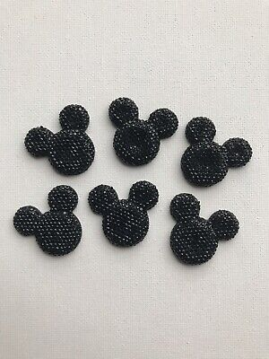 Flat Back Embellishments Mickey Mouse Black Hair Bows