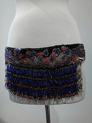 AMAZING HAND BEADED FLAPPER 1920's DANCERS COSTUME - ACCESSORY FOR FLAPPER DRESS