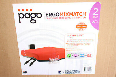 Brand New: Pago Ergomixmatch - Customised Ergonomic Chair System Red Square Seat