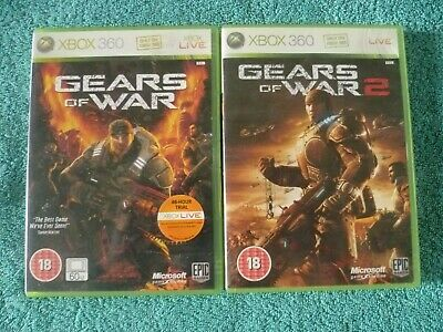 Gears Of War & Gears Of War 2 Xbox 360 Game - PAL - Free P&P
