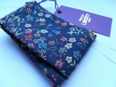 New Gianni Feraud Liberty London Donna Leigh Pattern Pocket Square Handkerchief