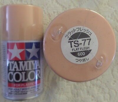 NEW/SEALED TAMIYA TS-77- FLAT FLESH -100ml SPRAY CAN- 7 AVAIL OR OTHER COLOURS