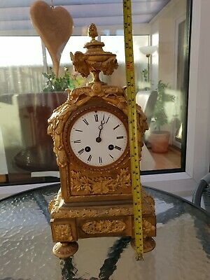 Antique Mantle Clock Beautiful French ormolu  clock pre 1900