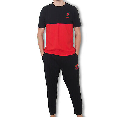 Liverpool FC Official Football Gift Mens Premium Long Pyjamas Set