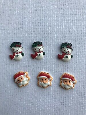 Flat Back Embellishments Christmas Hair Bows Cards Craft