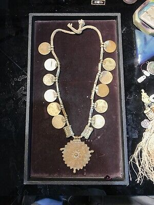 1960's 70's Prize MEDAL COIN NECKLACE - 12 MEDALS - BB-1