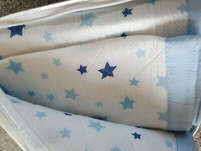 Airwrap Breathable 2 Sided Cot Bumper Blue Stars