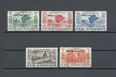NEW HEBRIDES 1953 D11/15 USED Cat £130