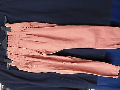 GIRLS NEXT LIGHT BROWN COTTON TROUSERS age 8 years