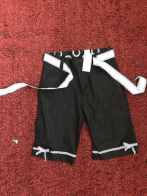 Childrens Place Baby Girls Black Mix Cotton Blend Trousers Age 24 Months BNWT