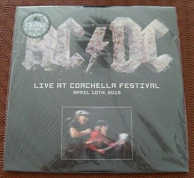 "Ac/Dc ""Live At Coachella Festival 2015 "" Double Coloured Lp N.34/250 Indio Ca"