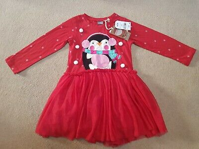 NEXT girls penguin Christmas Dress 2-3 Years BNWT