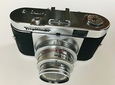 Vintage early Voigtlander Vito B 35mm camera with original case & instructions