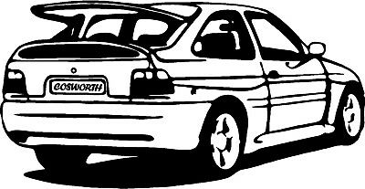 Ford Escort RS Cosworth Vinyl Decal