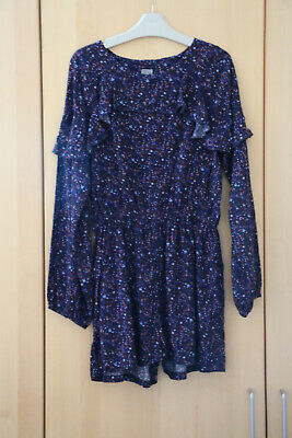 Next Girls Navy Ditsy Floral Jumpsuit/Playsuit 11 Years BNWT