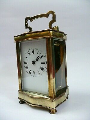 Antique Serpentine Cased 8 Day Brass Carriage Clock.....................ref.1816