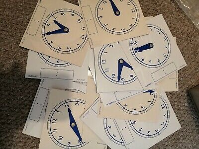 22 X Job Lot Of Primary School Clocks- Analogue/Digital, Hour/minute Hands