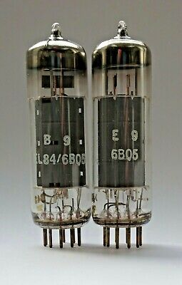 Matched Pair EL84 Valve/Tube Europe Coded (V13)