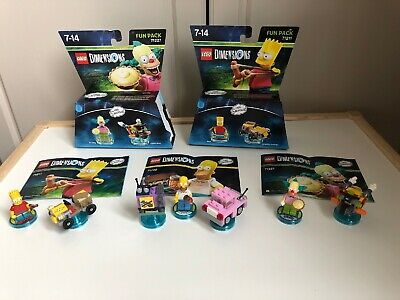 The Simpsons Level 3 X Fun Packs . Lego Dimensions . Xbox 360 One Ps3 Ps4 Wii U