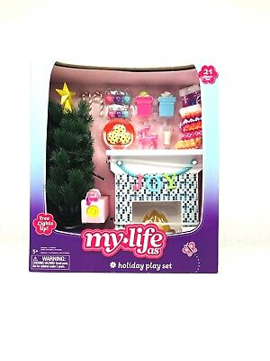 My Life As Holiday Play Set w/ Light Up Christmas Tree 21 Pieces NEW 2019