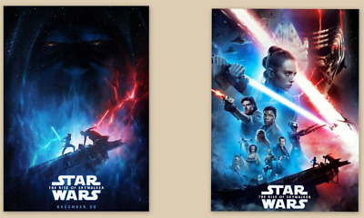 2 SET Star Wars The Rise Of Skywalker Theater Poster NEW F/S