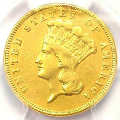 1885 Three Dollar Indian Gold Coin $3 - Certified PCGS XF Details - Rare Date!