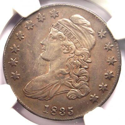 1835 Capped Bust Half Dollar 50C - NGC AU Detail - Rare Certified Coin!