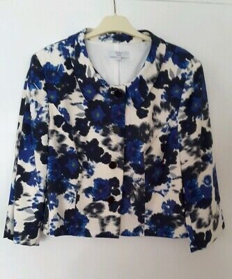 Joanna Hope Ladies Blue White Special Occasion Jacket Size 22