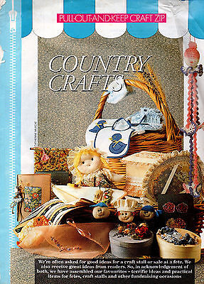 Magazine craft lift-outs - see photos - knit crochet sew