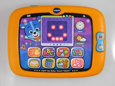 VTech Light-Up Baby Touch Tablet Baby Educational Developmental Toy - Orange