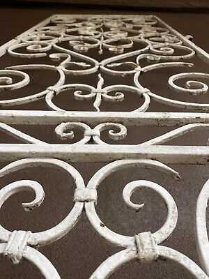 Antique French Provincial Wrought  Iron Security Door Panel Screen.
