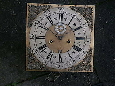 C1750 8 day   LONGCASE GRANDFATHER CLOCK DIAL+movement 12X12   JNO BELLING , BOD