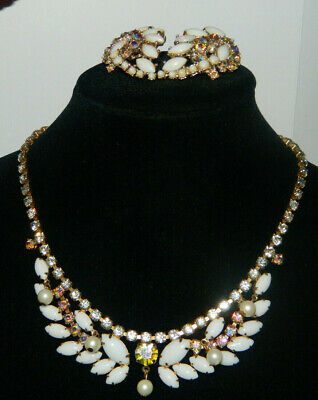 Demi Parure Collier Ohrclips Hollywood Glamour 50s