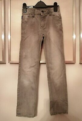 NEXT Boys Grey Distressed Jeans Age 8 in VGC