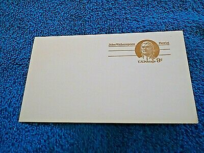 VINTAGE UNUSED USPS 9 CENT POSTCARD, 1970 ? John Witherspoon, Patriot