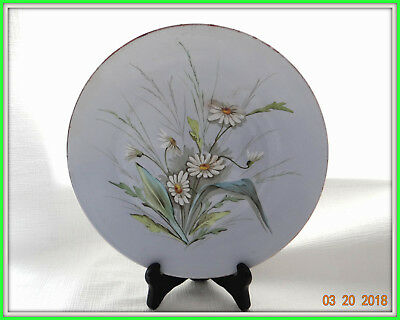 RARE Antique19c RUSSIAN old Kuznetsov  КУЗНЕЦОВ porcelain wall plate chamomile