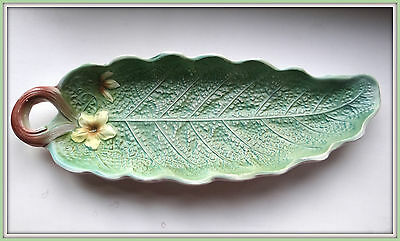 Antique 19c Hand Painted RUSSIAN old Kuznetsov Кузнецов porcelain dish  Leaf