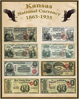 """Arizona U S Large National Bank Notes 16/""""x20/"""" Poster Part of a State set"""