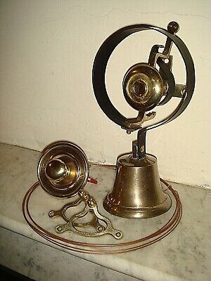 Victorian Door Bell,Servants Bell.Pull & Cranks,Antique Visitors Bell.