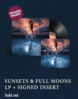The Script Sunsets & Full Moons Signed Vinyl Limited ***SOLD OUT ****