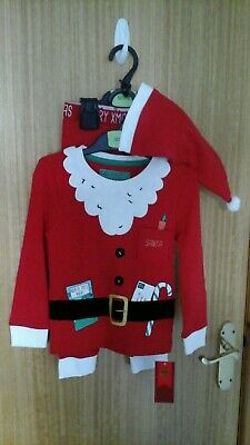 Boys 3 Part SANTA OUTFIT BY BLUE ZOO@ DEBENHAM. AGE 2/3 YRS.  BRAND NEW WITH TAG