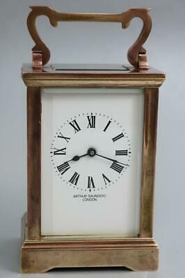 ENGLISH CARRIAGE CLOCK 8 day LONDON MAKER vintage GOOD WORKING ORDER
