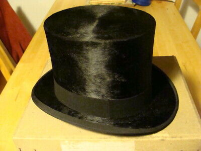 christys vintage black top hat