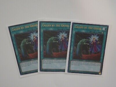 YUGIOH x3 Called by the Grave - DUDE-EN044 - Ultra Rare 1st Edition NM