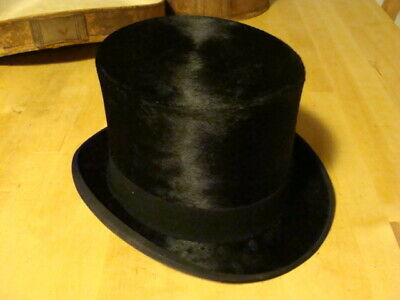 vintage black  top hat (dunlop edinburgh hatter)