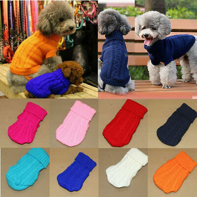 Pet Clothes Knitted Jumper Sweater Chihuahua Small Dog Coat Jacket Warm Apparel