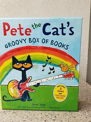 Pete the Cat Childrens Kids Books Phonics I Can Read Box Gift Set of 6