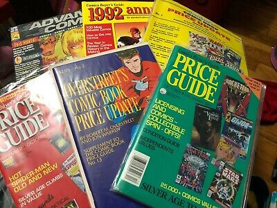 Vintage Comic Book Price Guides Lot - Overstreet's Advance 1992 Annual Etc