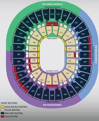 NFR National Finals Rodeo Tickets- Round 9, Fri 12/13/19 Lower Balcony Row D