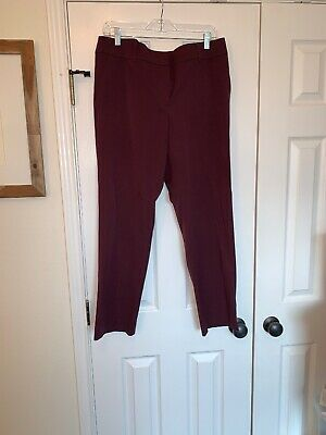 Womens ANN TAYLOR LOFT Julie Purple Violet Dress Pants SIZE 12 Wool Blend